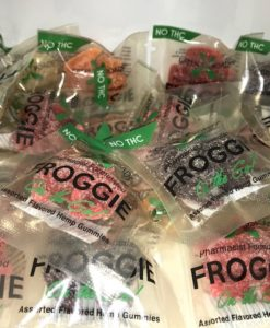 Click to buy Single Dose Edible CBD Frogs