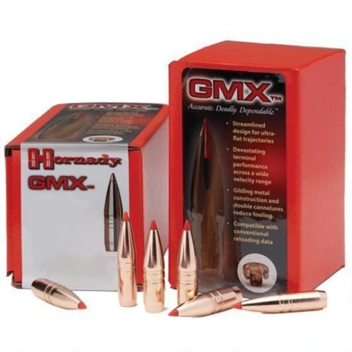 Hornady .30 Caliber .308″ Diameter 165 Grain Lead Free GMX Boat Tail Polymer Tip Bullet 50 Count