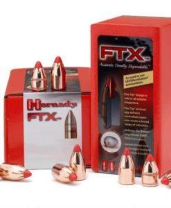 "Hornady .45 Caliber .452"" Diameter 200 FTX Cannelured Flat Base Polymer Flex Tip Bullet 50 Count"