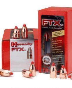 "Hornady .45 Caliber .452"" Diameter 225 Grain FTX Cannelured Flat Base Polymer Flex Tip Bullet 100 Count"
