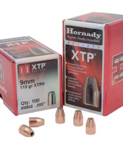 "Hornady 9mm Caliber .355"" Diameter 115 Grain XTP Hollow Point Bullet 100 Count"